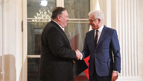 Mike Pompeo i Jacek Czaputowicz - Sputnik Polska