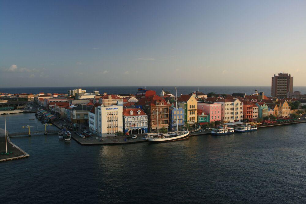 Widok na Willemstad w Curacao