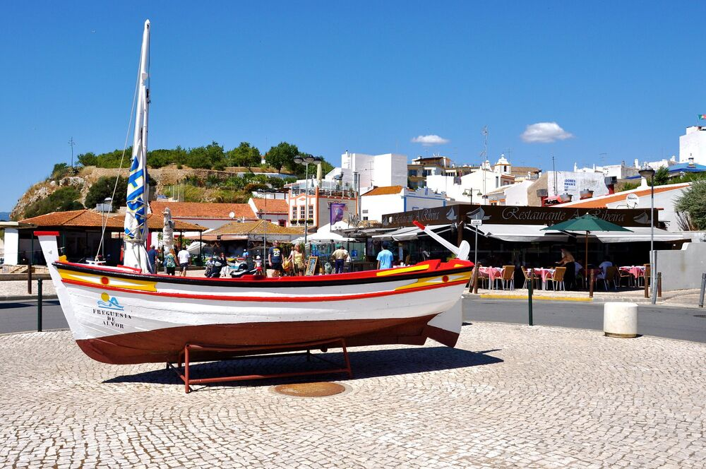 Widok na Alvor w Portugalii
