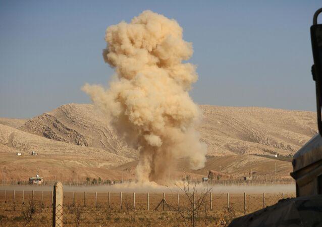 Wybuch fugasa w Iraku.