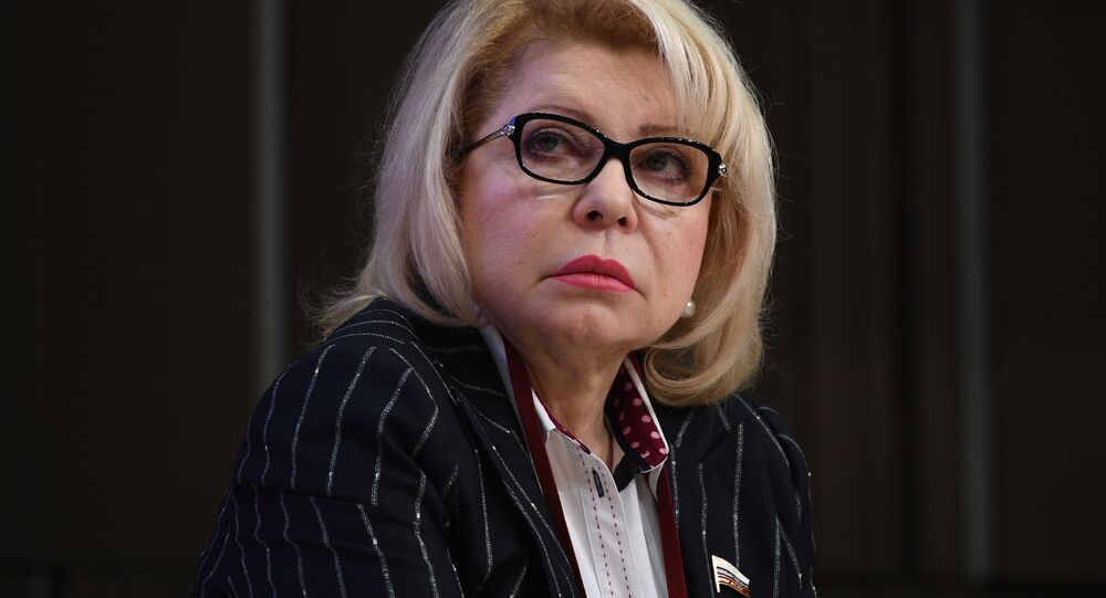 Członek komitetu ds. międzynarodowych Dumy Państwowej Jelena Panina