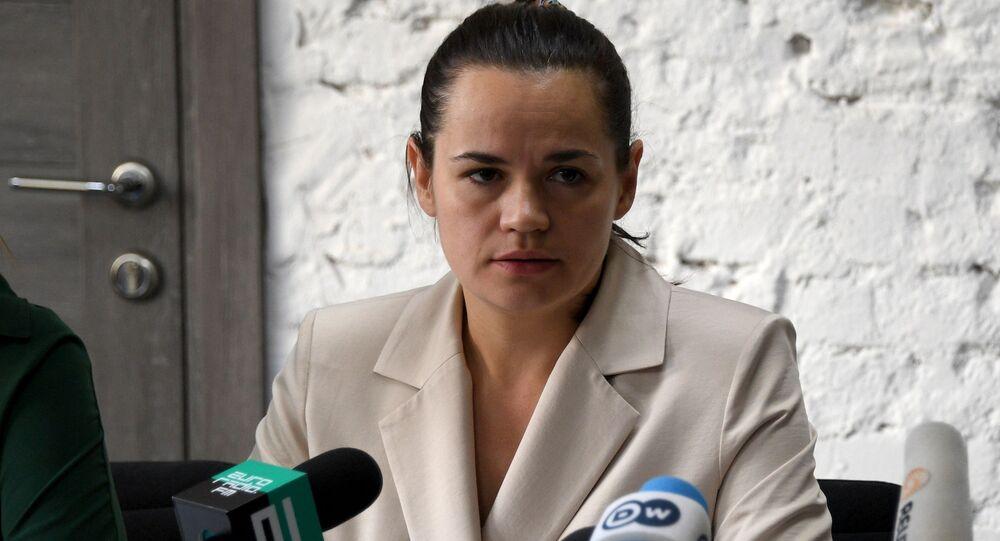 Kandydatka na prezydenta Swietłana Cichanouska.