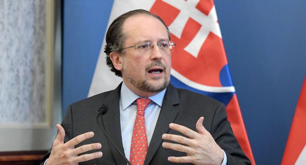 Austriacki minister spraw zagranicznych Alexander Schallenberg