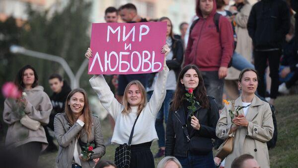 Protest w Mińsku - Sputnik Polska