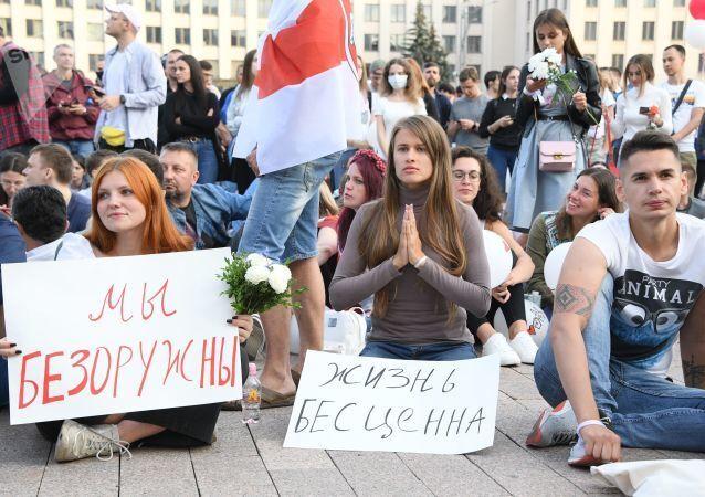 Protesty na Białorusi 14 sierpnia.