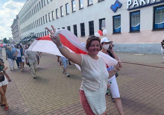 Protesty w Grodnie.