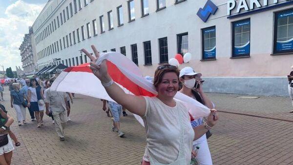 Protesty w Grodnie - Sputnik Polska