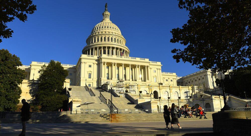 Budynek Kapitolu na Wzgórzu Kapitolu w Waszyngtonie, USA