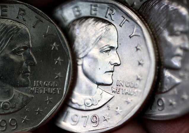 Wizerunek amerykańskiej sufrażystki Susan Anthony na monecie