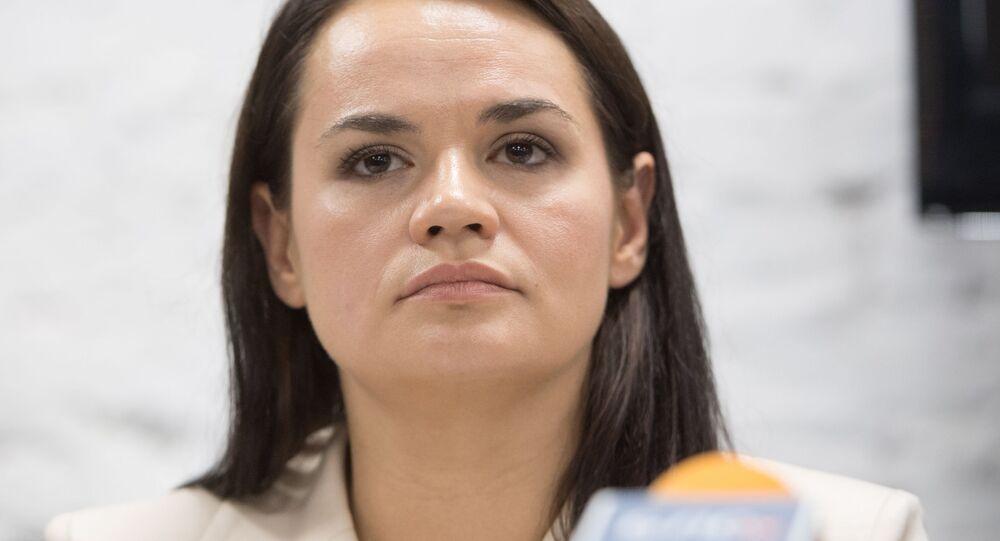 Kandydatka na prezydenta Białorusi Swietłana Cichanouska