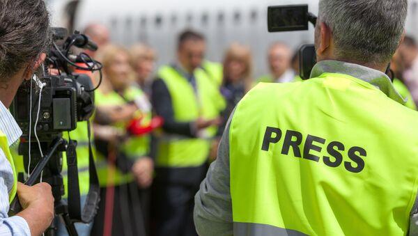 Dziennikarze przy pracy - Sputnik Polska