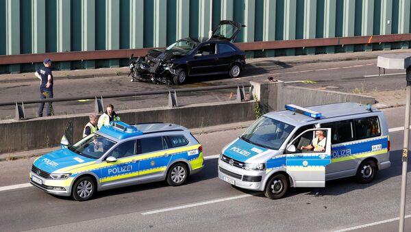 Incydent na autostradzie Berlina. - Sputnik Polska