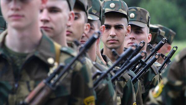 Żołnierze Sił Zbrojnych Białorusi - Sputnik Polska