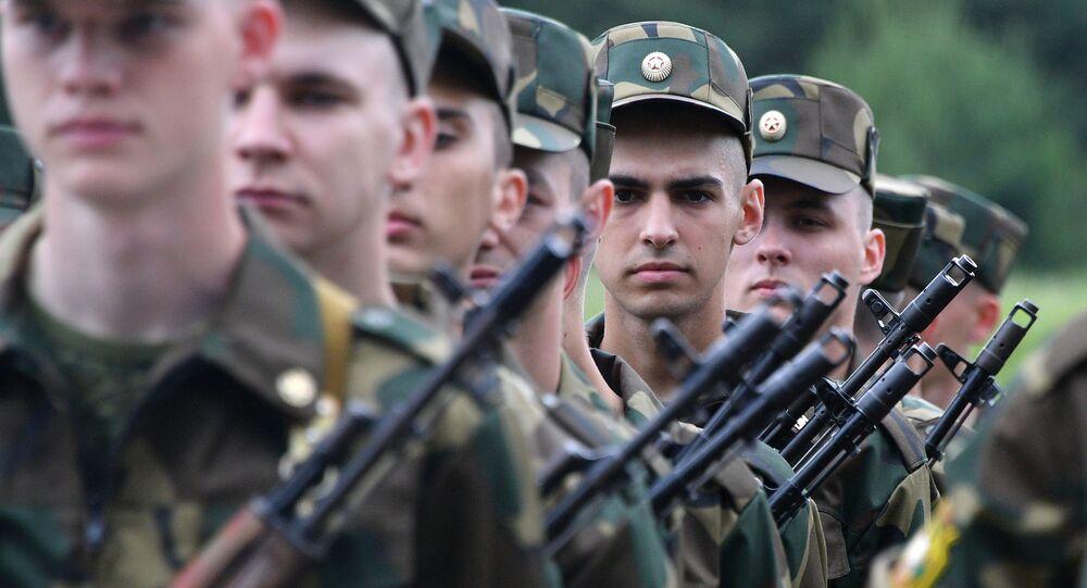 Żołnierze Sił Zbrojnych Białorusi