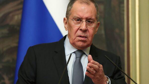 Minister spraw zagranicznyh Rosji Siegiej Ławrow - Sputnik Polska