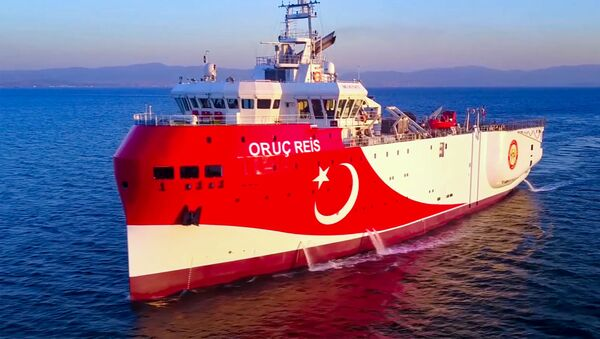 Turecki statek do badań geologicznych Oruç Reis. - Sputnik Polska