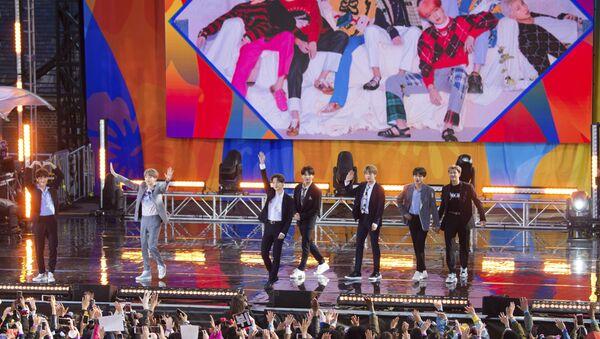 Występ południowokoreańskiego zespołu BTS w Nowym Jorku. - Sputnik Polska