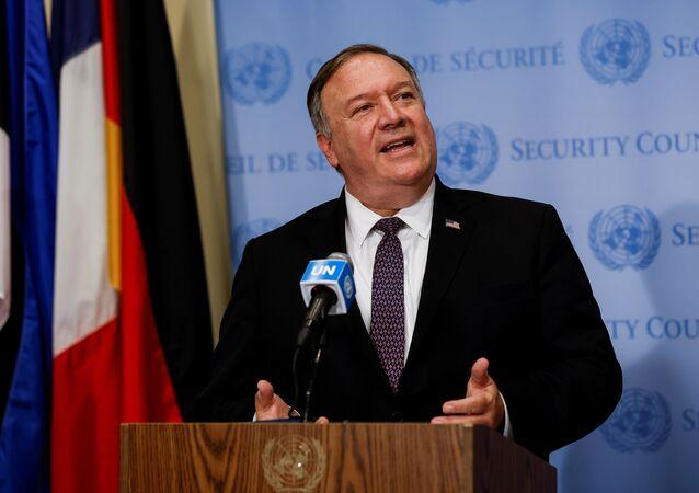 Sekretarz stanu USA Mike Pompeo w siedzibie ONZ w Nowym Jorku
