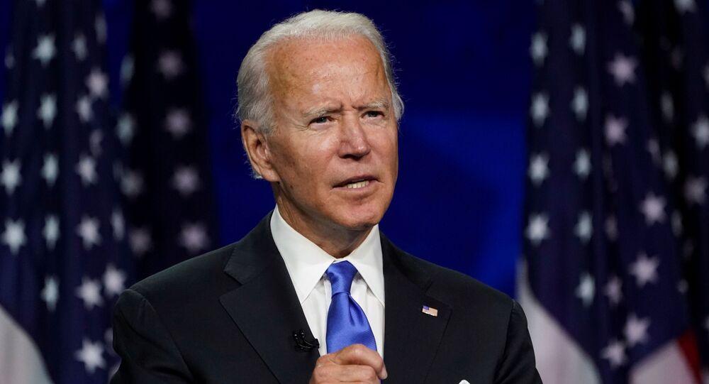 Kandydat na prezydenta USA z Partii Demokratycznej Joe Biden