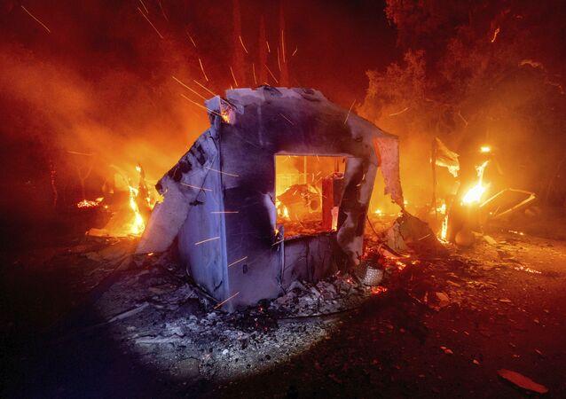 Pożary lasów w Kalifornii