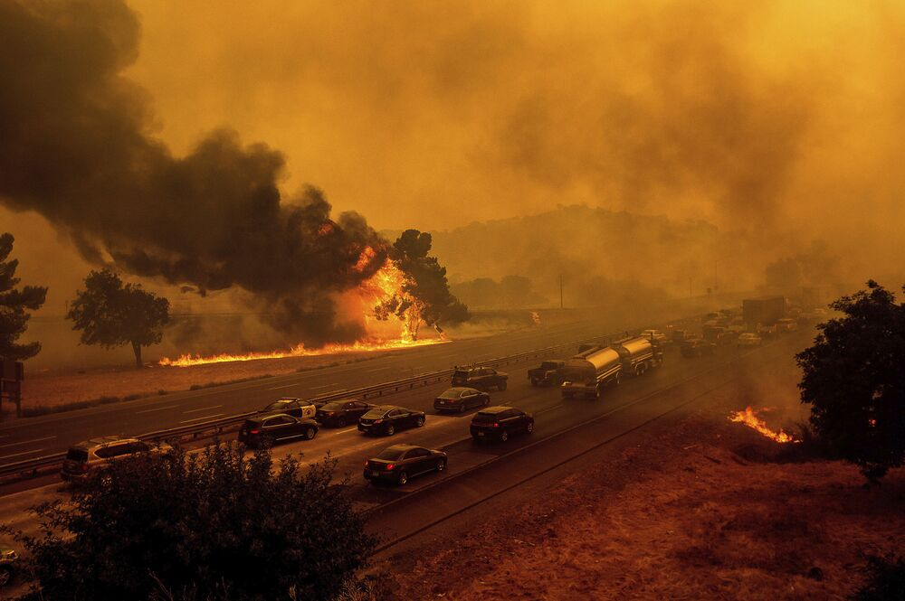 Pożary w Vacaville, USA