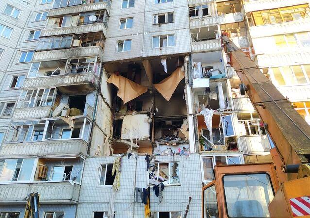 Wybuch w bloku w Jarosławiu