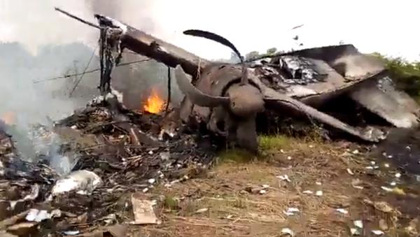 Katastrofa samolotu w Sudanie Południowym.  - Sputnik Polska