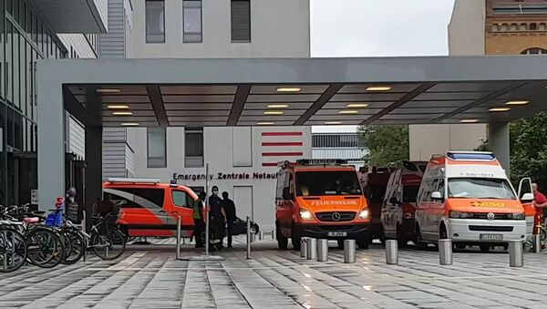 Szpital kliniczny Charite w Berlinie, do którego przewieziono Aleksieja Nawalnego.  - Sputnik Polska