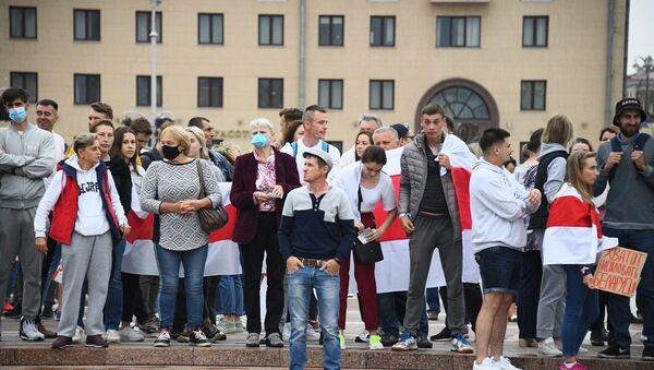 Protesty na Białorusi - Sputnik Polska