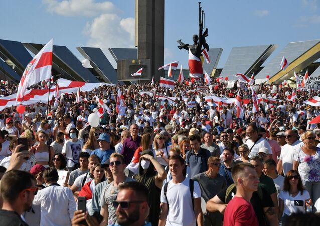 Protesty w Mińsku na Białorusi