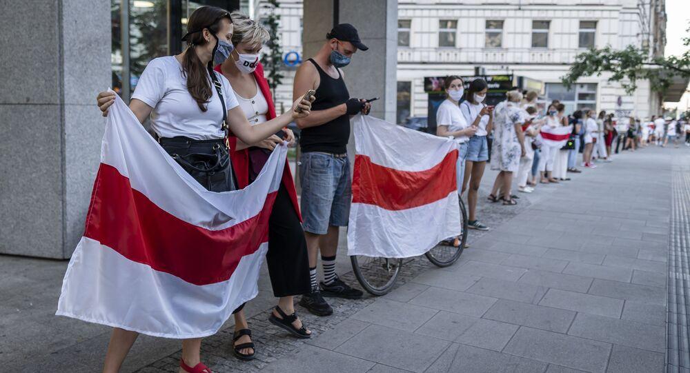 Protesty w Warszawie, poparcie dla białoruskiej opozycji