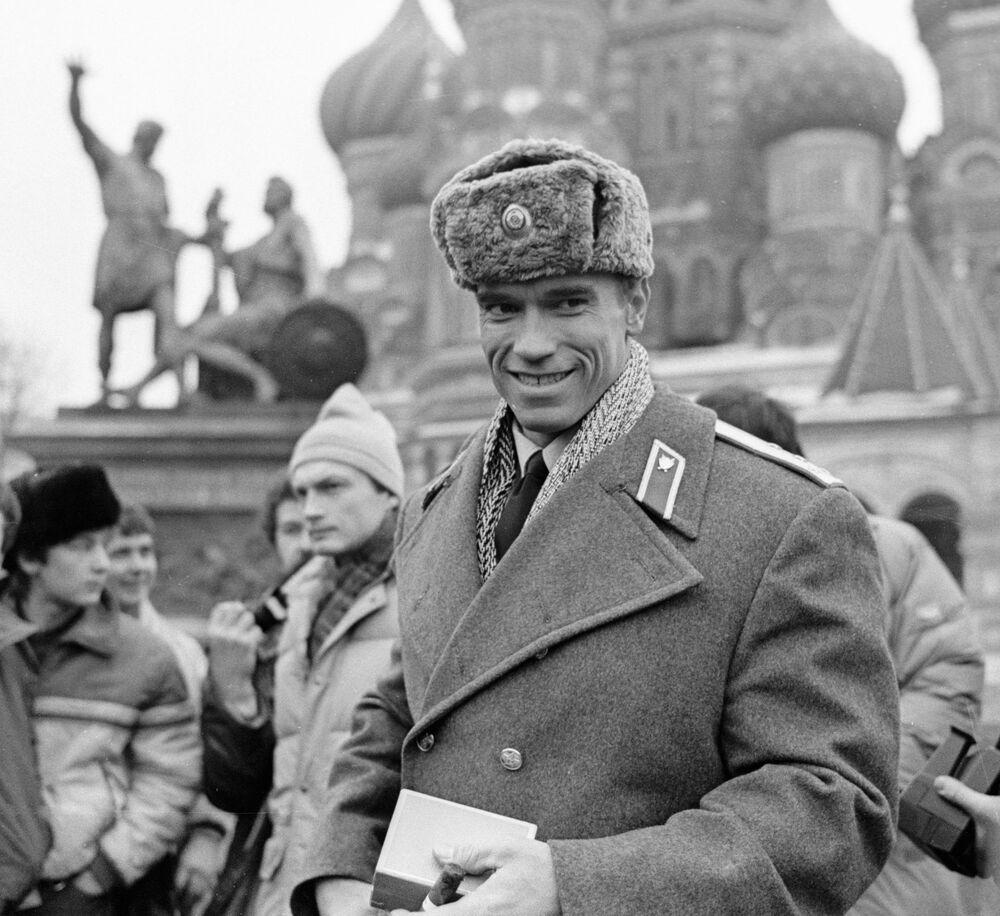 Arnold Schwarzenegger na Placu Czerwonym