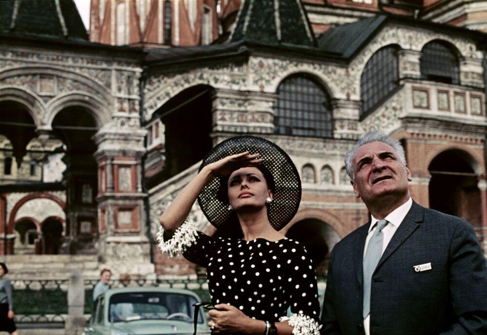 Sophia Loren w Moskwie