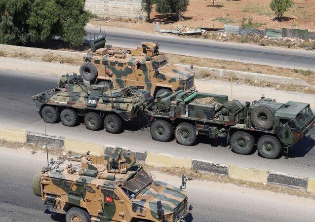 Rosyjsko-turecki patrol w Idlibie