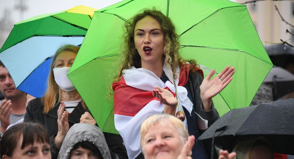 Miting opozycji w Mińsku