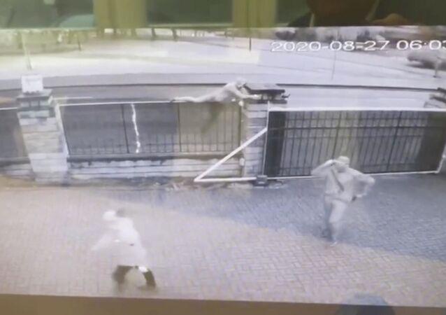 Napad na ambasadę Libii w Mińsku
