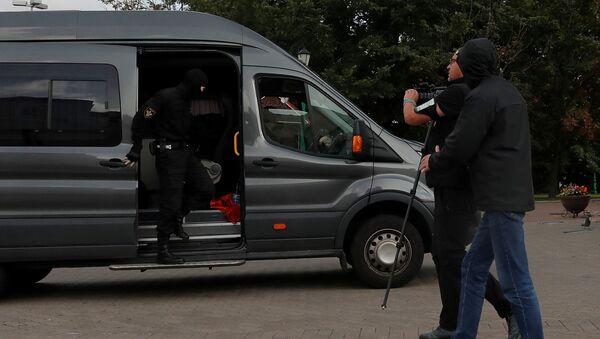 Grupę dziennikarzy zatrzymano w centrum Mińska - Sputnik Polska