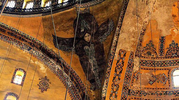 Mozaiki w Hagii Sophii w Stambule. - Sputnik Polska