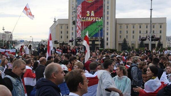 Wiec opozycji w Mińsku - Sputnik Polska