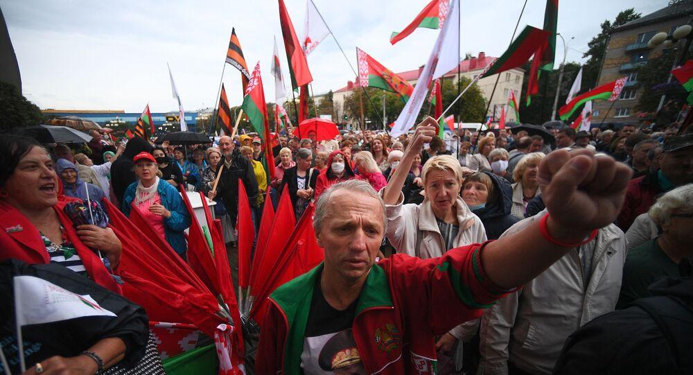 Akcja poparcia Aleksandra Łukaszenki w Mińsku