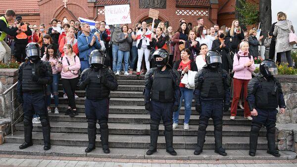 Protesty na Białorusi. - Sputnik Polska