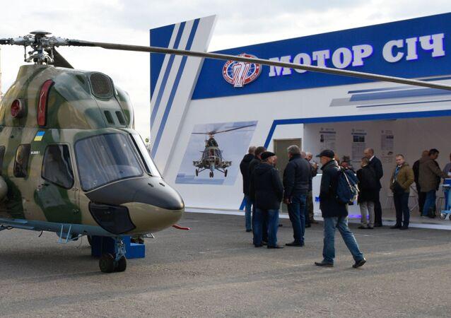 Stoisko ukraińskiej fabryki Motor Sicz