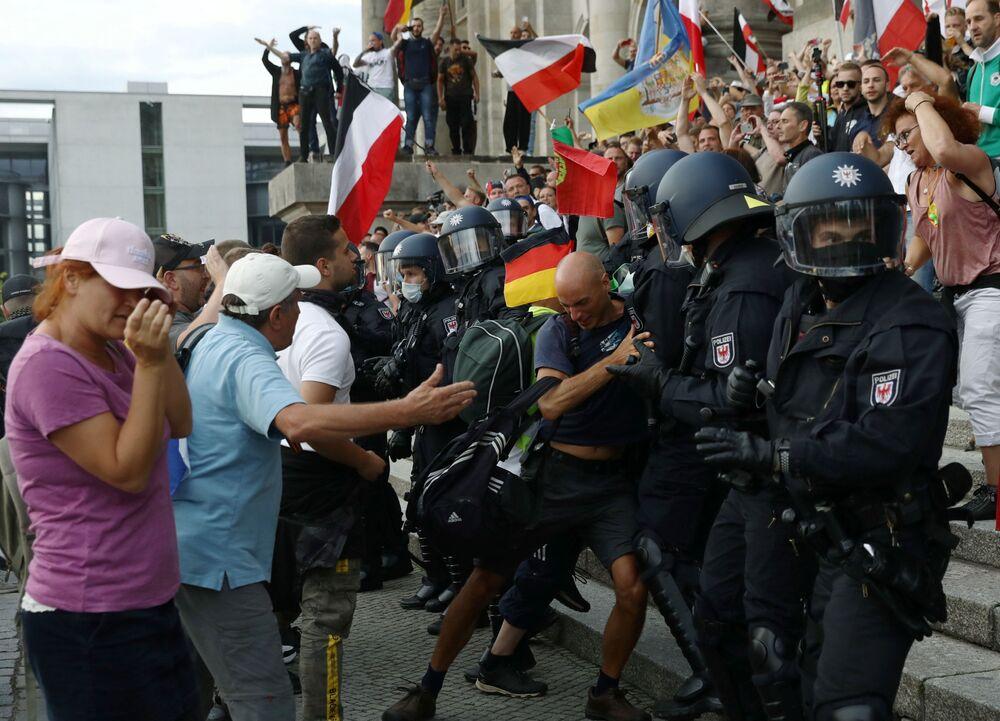Protesty w Berlinie w sobotę 29 sierpnia