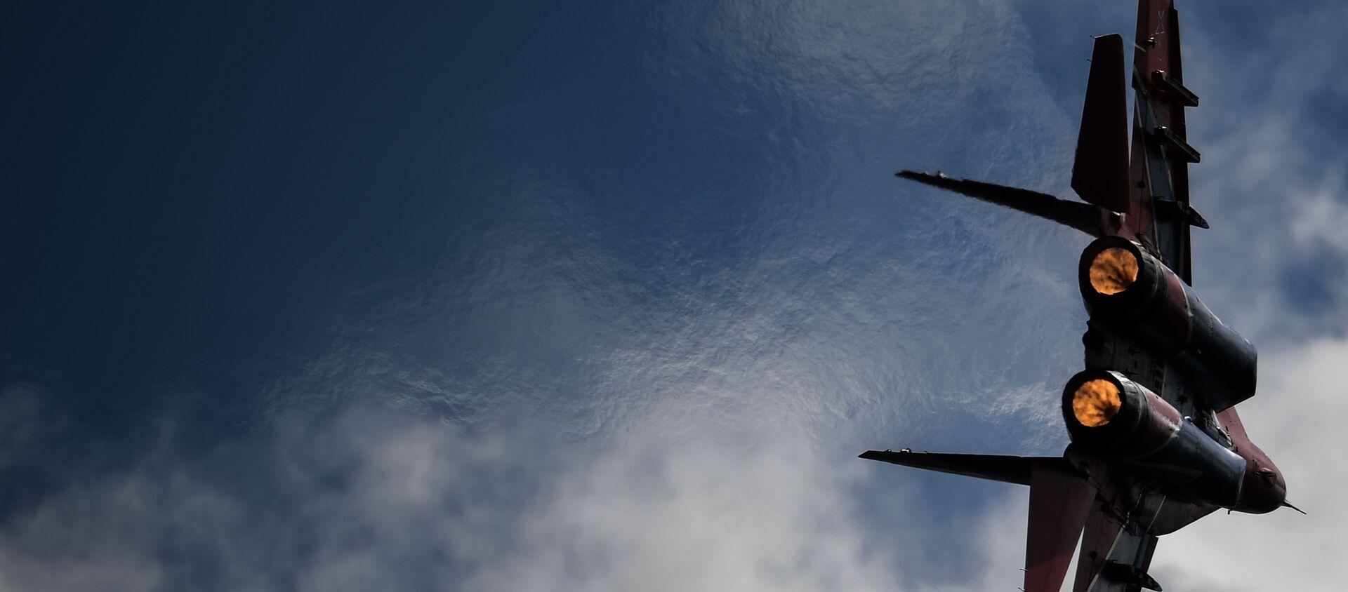 Myśliwiec MiG-29 podczas lotu demonstracyjnego w ramach forum Armia 2020 - Sputnik Polska, 1920, 28.09.2020