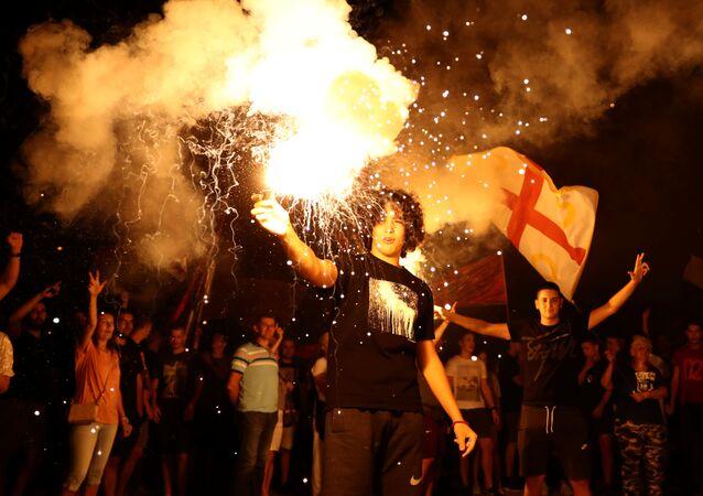 Zwolennicy opozycji w stolicy Czarnogóry