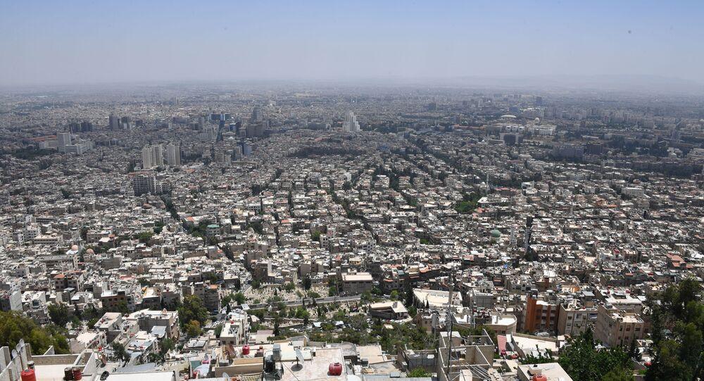 Widok na Damaszek z góry Kasjun.