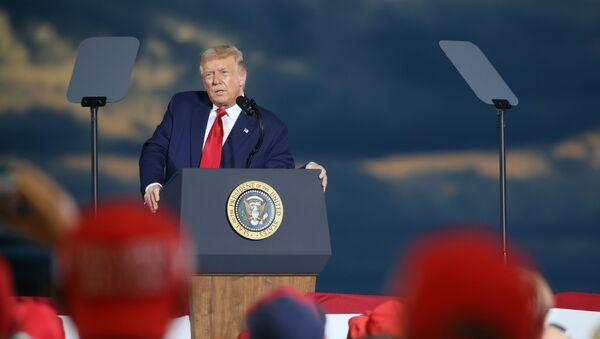 Przemówienie Donalda Trumpa w New Hampshire - Sputnik Polska