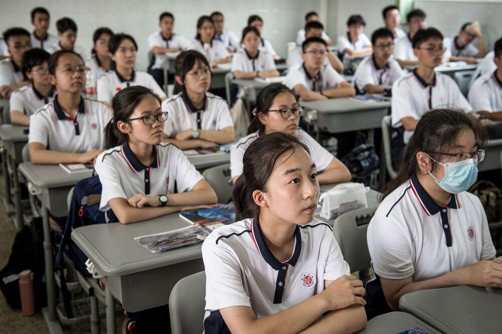 Szkoła w Wuhanie, Chiny