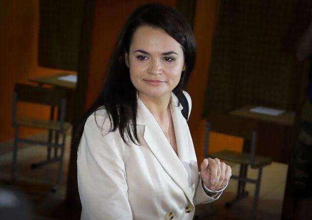 Była kandydatka na prezydenta Białorusi Swiatłana Cichanouska