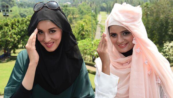 Finalistki konkursu piękności World Muslimah Awards w Indonezji - Sputnik Polska